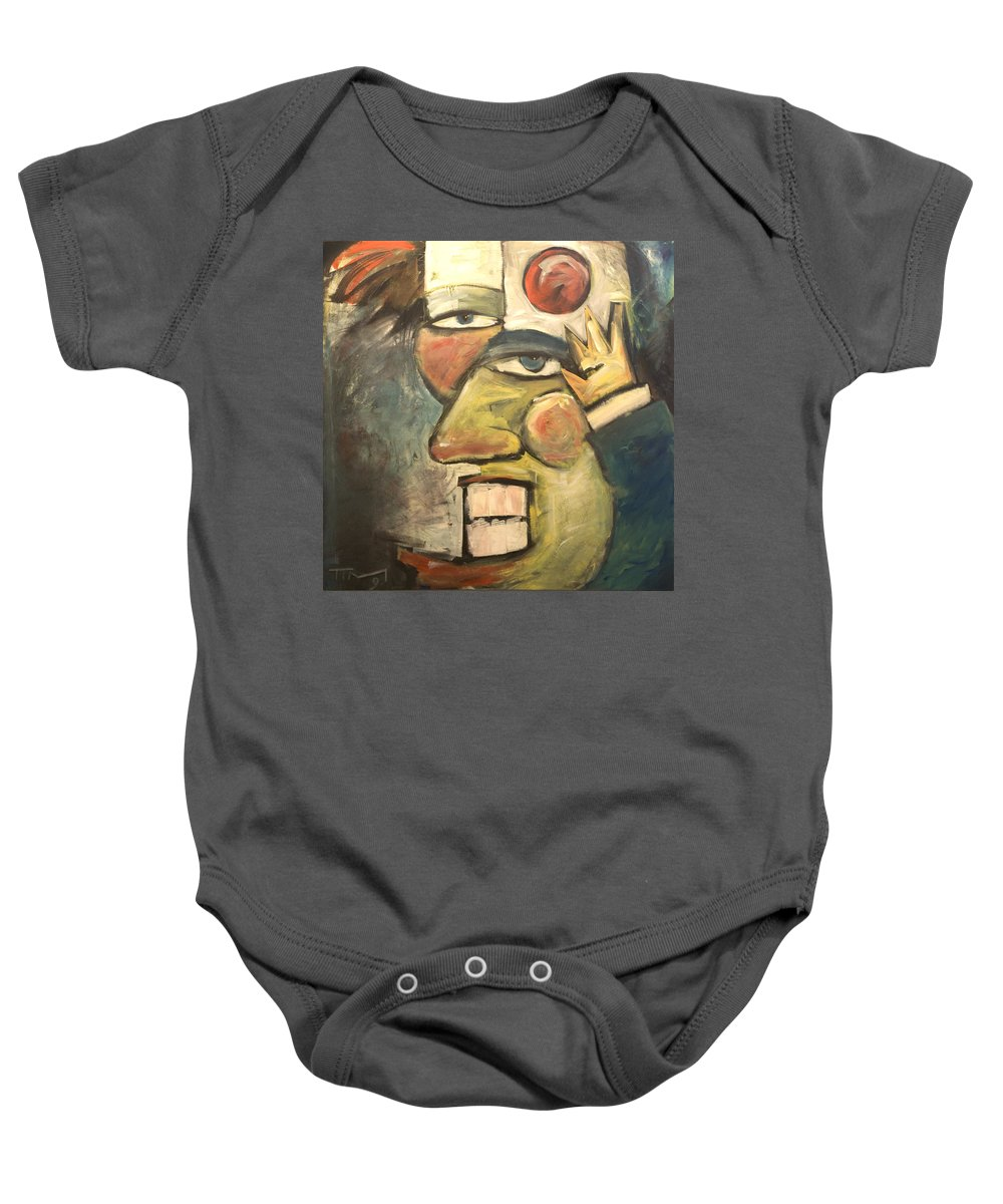 Clown Baby Onesie featuring the painting Clown Painting by Tim Nyberg