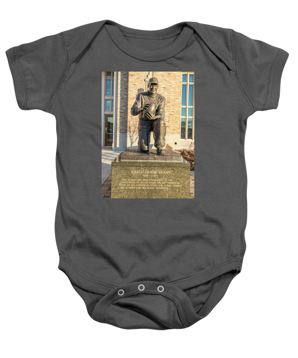 American University Baby Onesie featuring the photograph Coach Frank Leahy by John McGraw