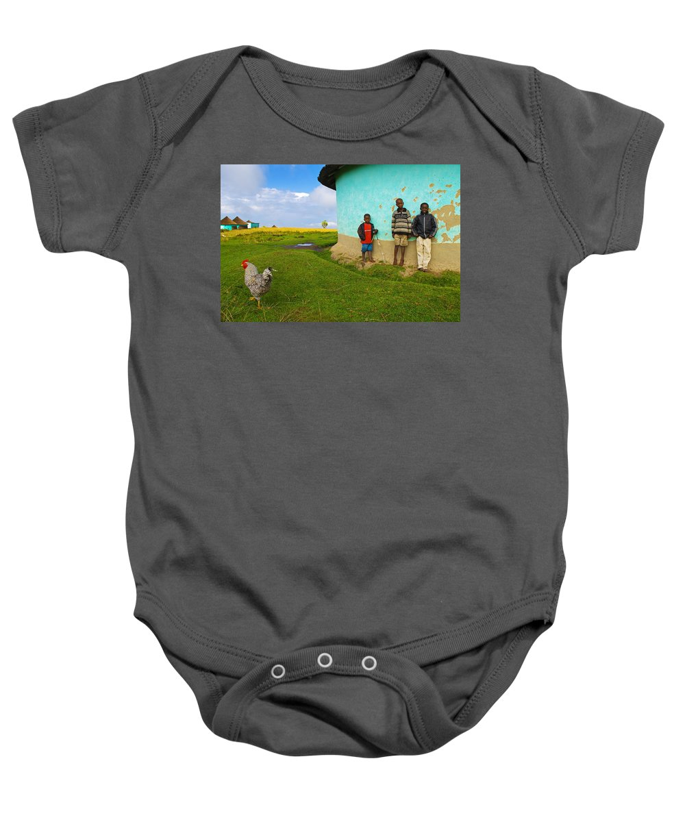 Skip Baby Onesie featuring the photograph Cocky by Skip Hunt