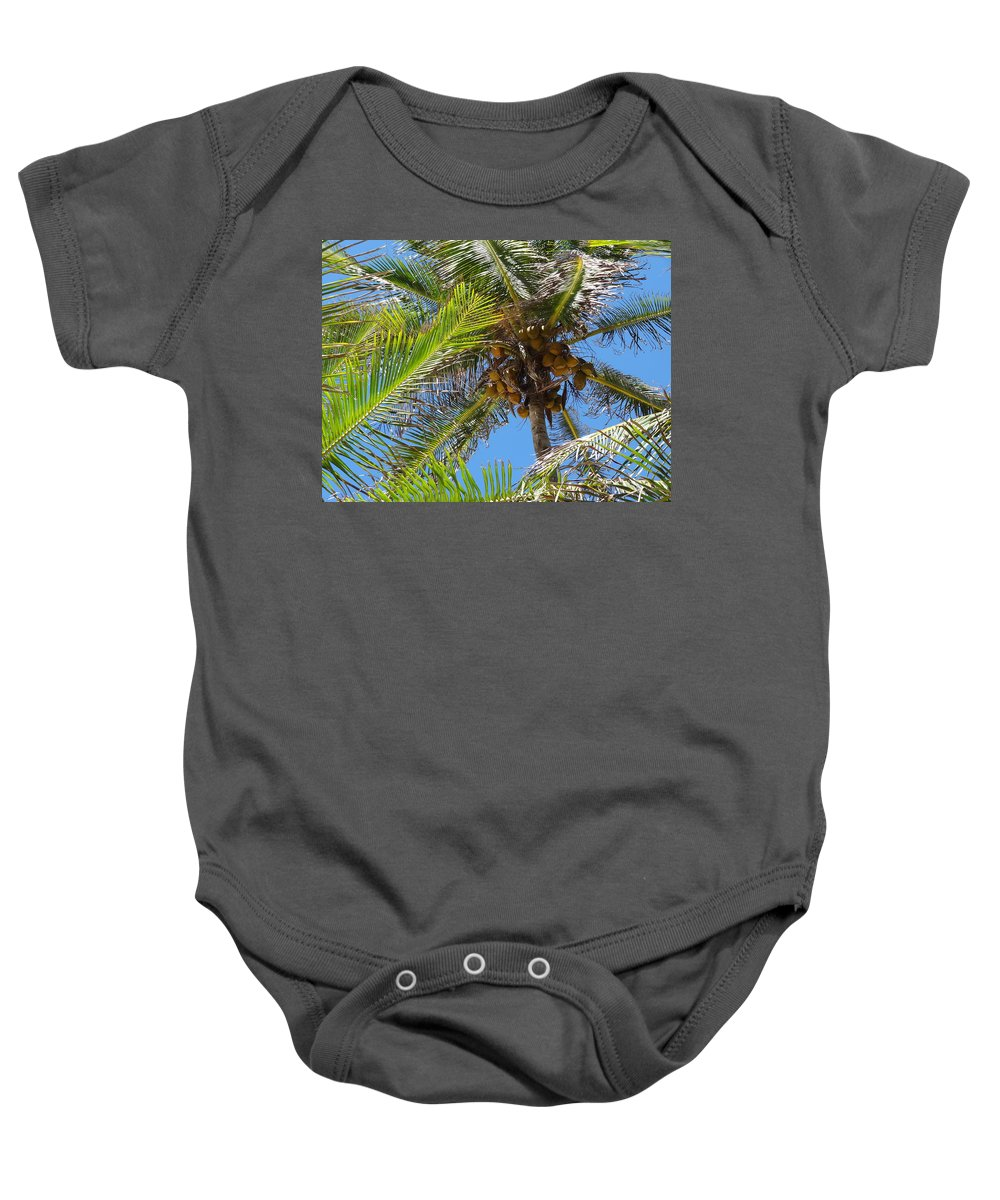Coconut Baby Onesie featuring the photograph Coconut Tree by Ariel Pedraza
