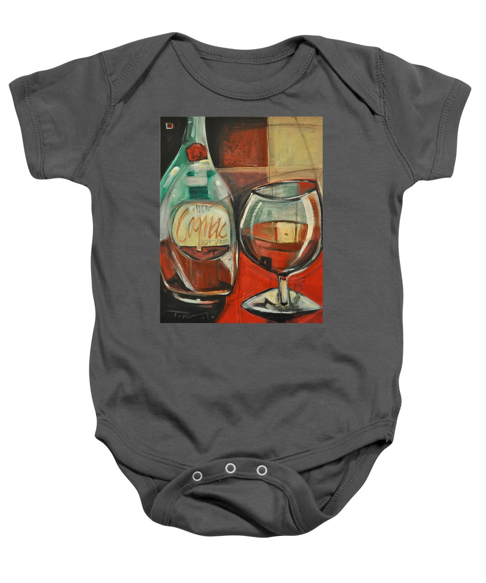 Alcohol Baby Onesie featuring the painting Cognac by Tim Nyberg