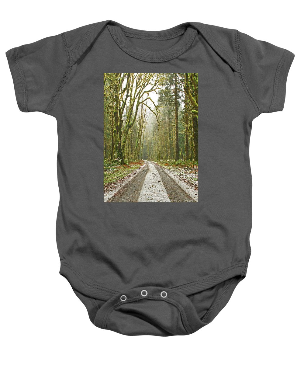 Landscape Baby Onesie featuring the photograph Cold Paths by Marcel Stevahn