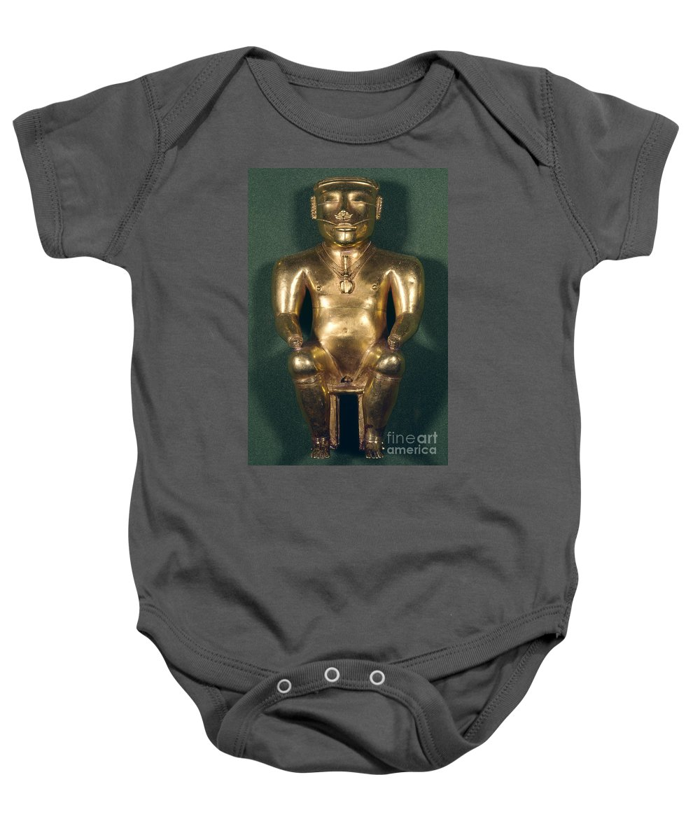 1500 Baby Onesie featuring the photograph Colombia: Gold Figure by Granger