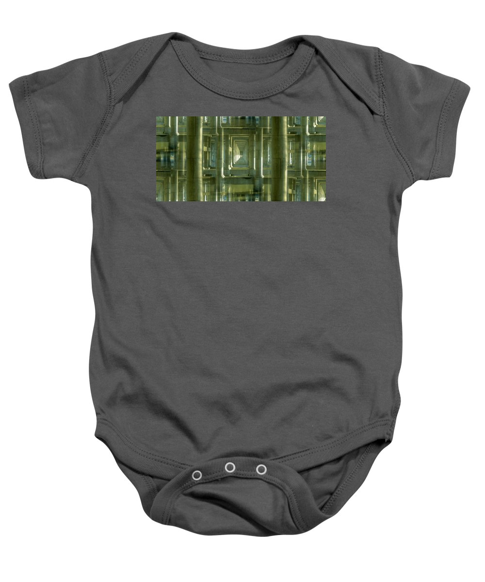 Seattle Baby Onesie featuring the photograph Colonnade Park Seattle by Tim Allen