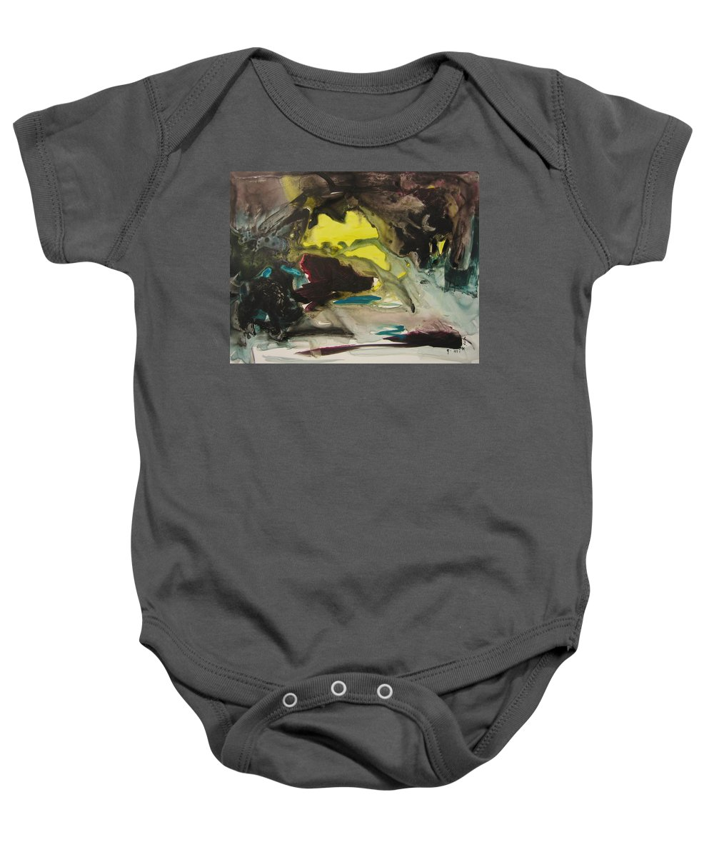 Abstract Paintings Baby Onesie featuring the painting Color Fever 117 by Seon-Jeong Kim