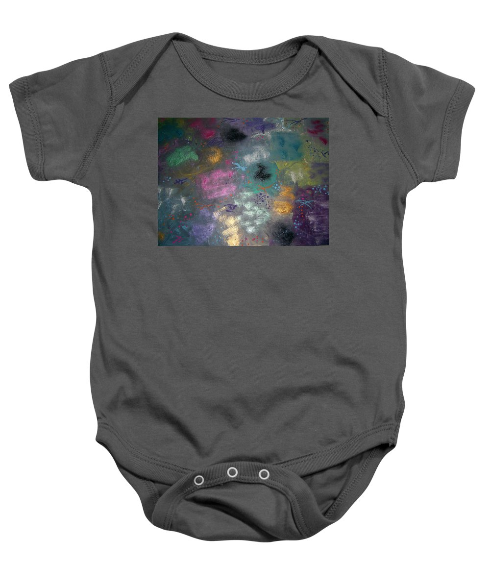 Mix Baby Onesie featuring the painting Color Splash by Jill Christensen