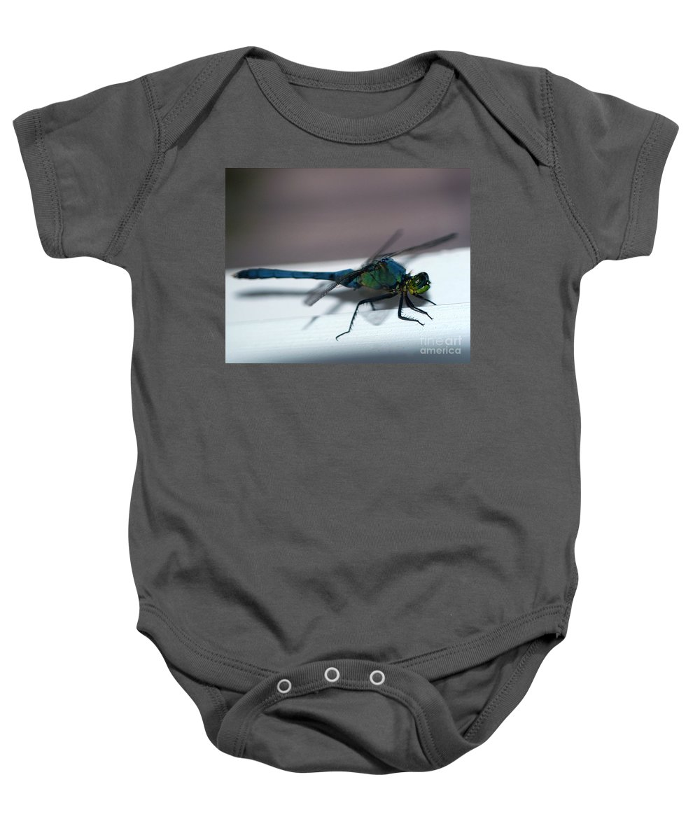 Clay Baby Onesie featuring the photograph Colorful Dragon by Clayton Bruster