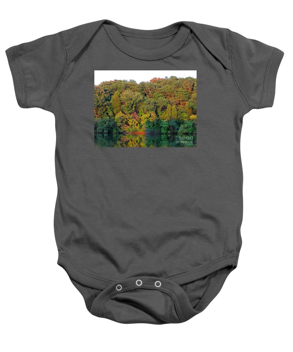 Landscape Baby Onesie featuring the photograph Colorful Sunset by Todd Blanchard