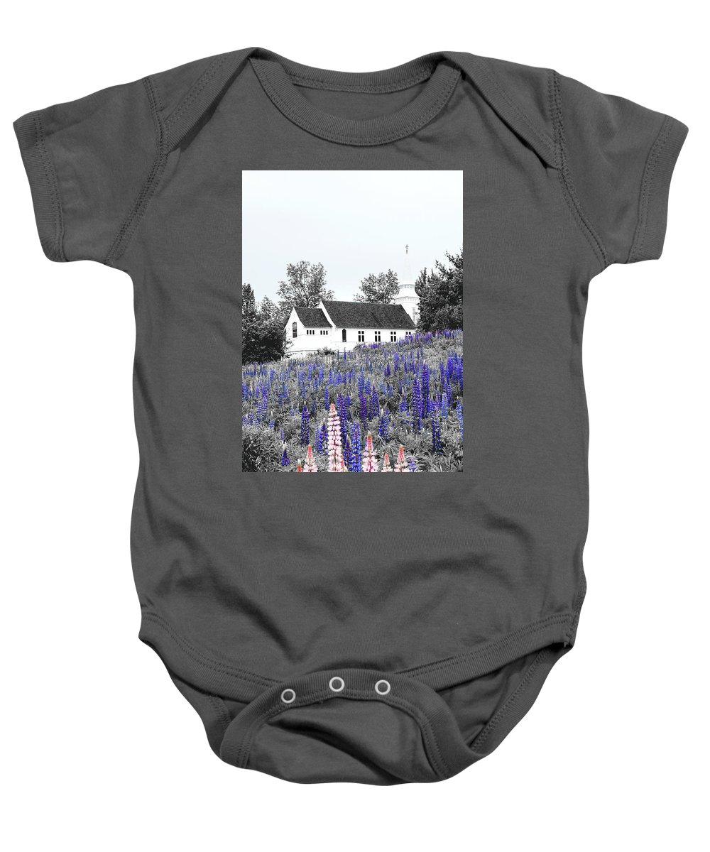 Franconia Notch Baby Onesie featuring the photograph Coloring by Greg Fortier