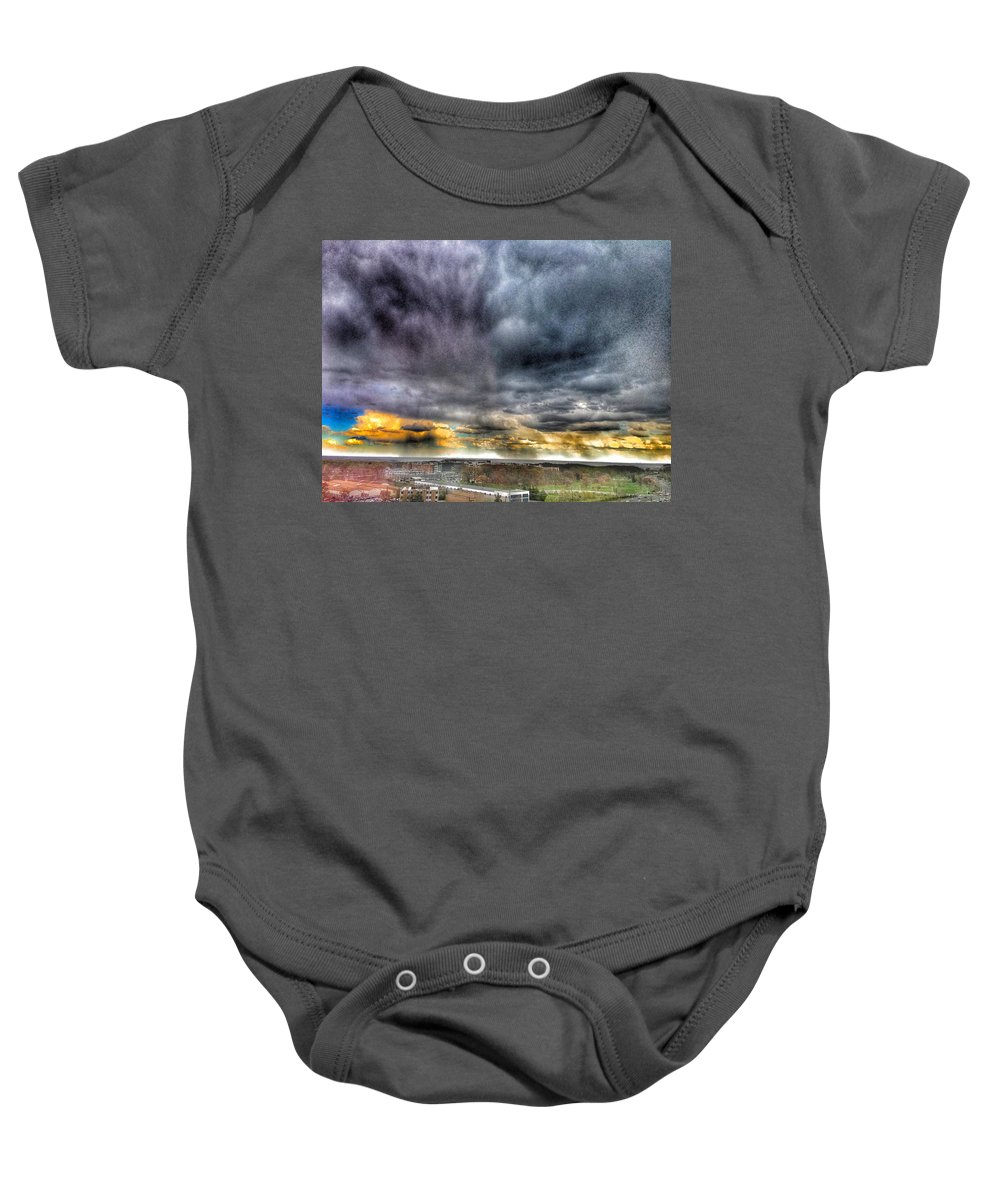Sky Baby Onesie featuring the photograph Colors by Kate McGlynn