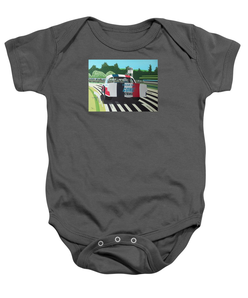 Custaxie Baby Onesie featuring the painting Colour Me Gone by Kieran Roberts