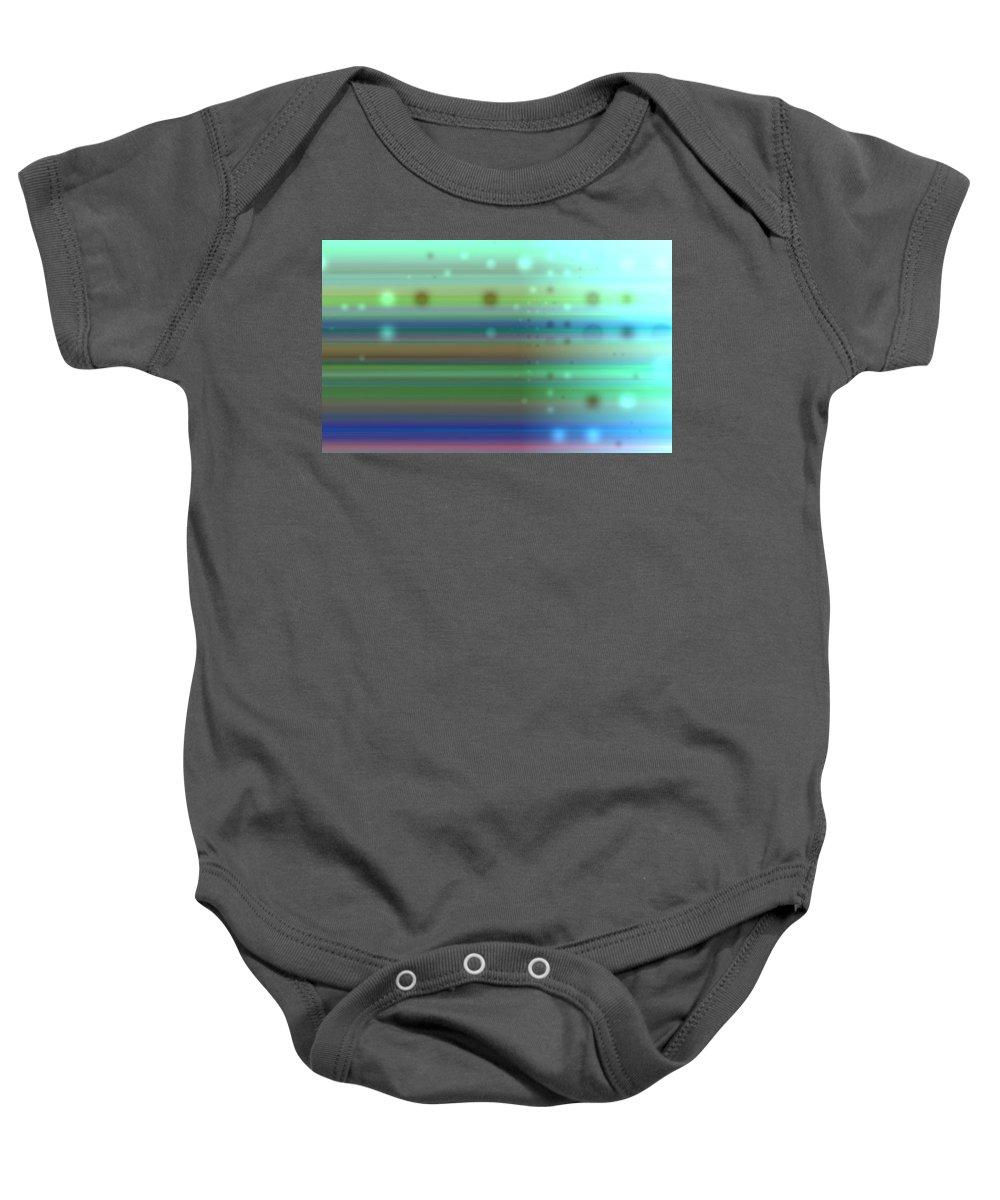 Art Digital Art Baby Onesie featuring the digital art Colour15mlv - Impressions by Alex Porter