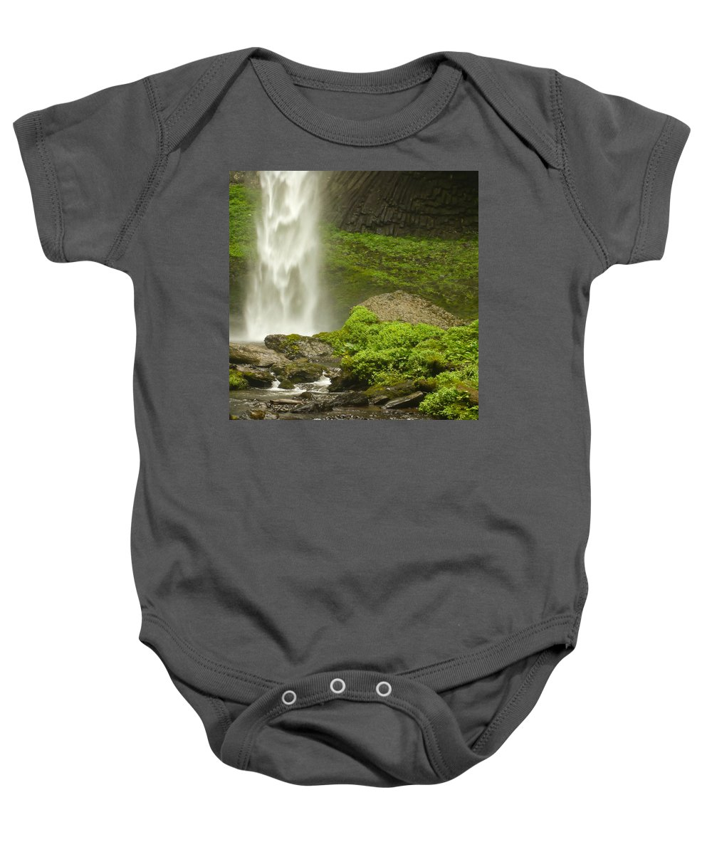 Clearwater Falls Baby Onesie featuring the photograph Columbia River Gorge 1 by Ingrid Smith-Johnsen
