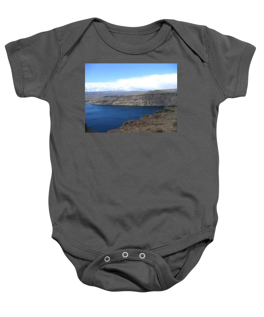 Columbia River Baby Onesie featuring the photograph Columbia River by Will Borden