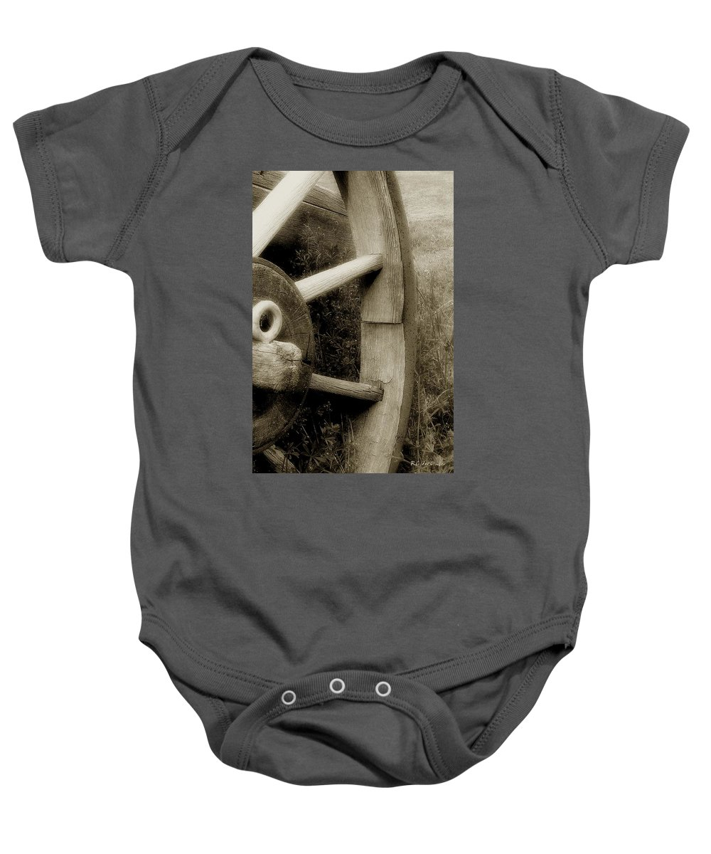Antique Baby Onesie featuring the photograph Coming Apart At The Seams by RC DeWinter