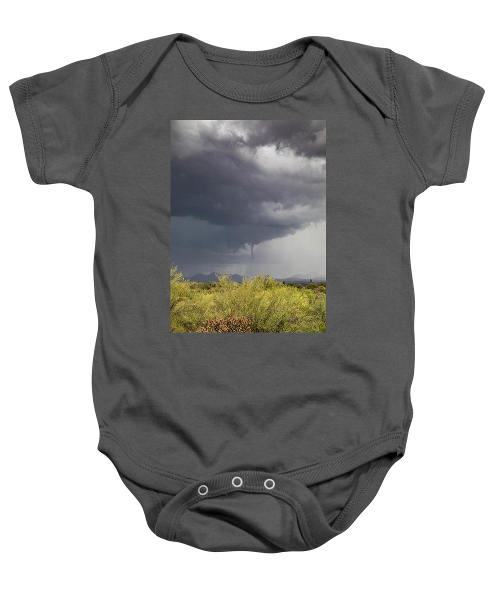 Arizona Baby Onesie featuring the photograph Coming Down by Cathy Franklin