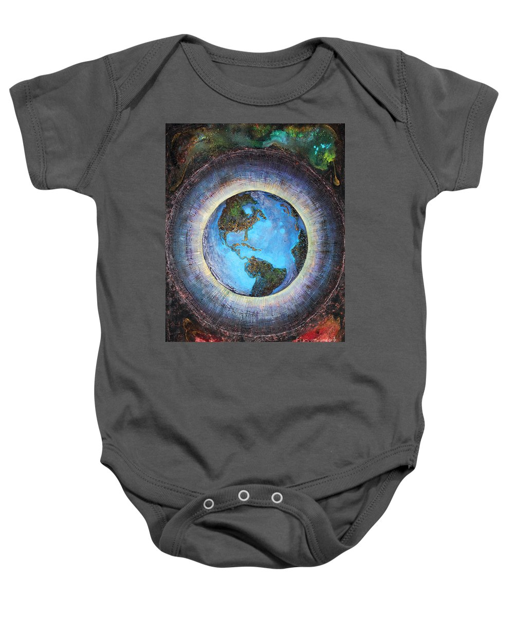 Farzali Babekhan Baby Onesie featuring the painting Common Ground by Farzali Babekhan