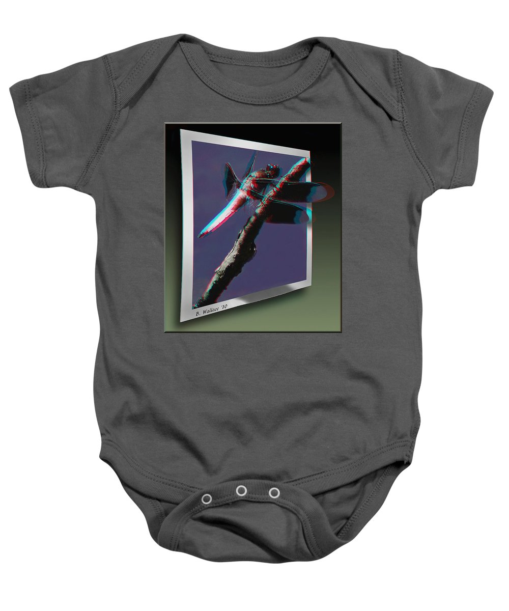 3d Baby Onesie featuring the photograph Common Whitetail - Use Red-cyan 3d Glasses by Brian Wallace