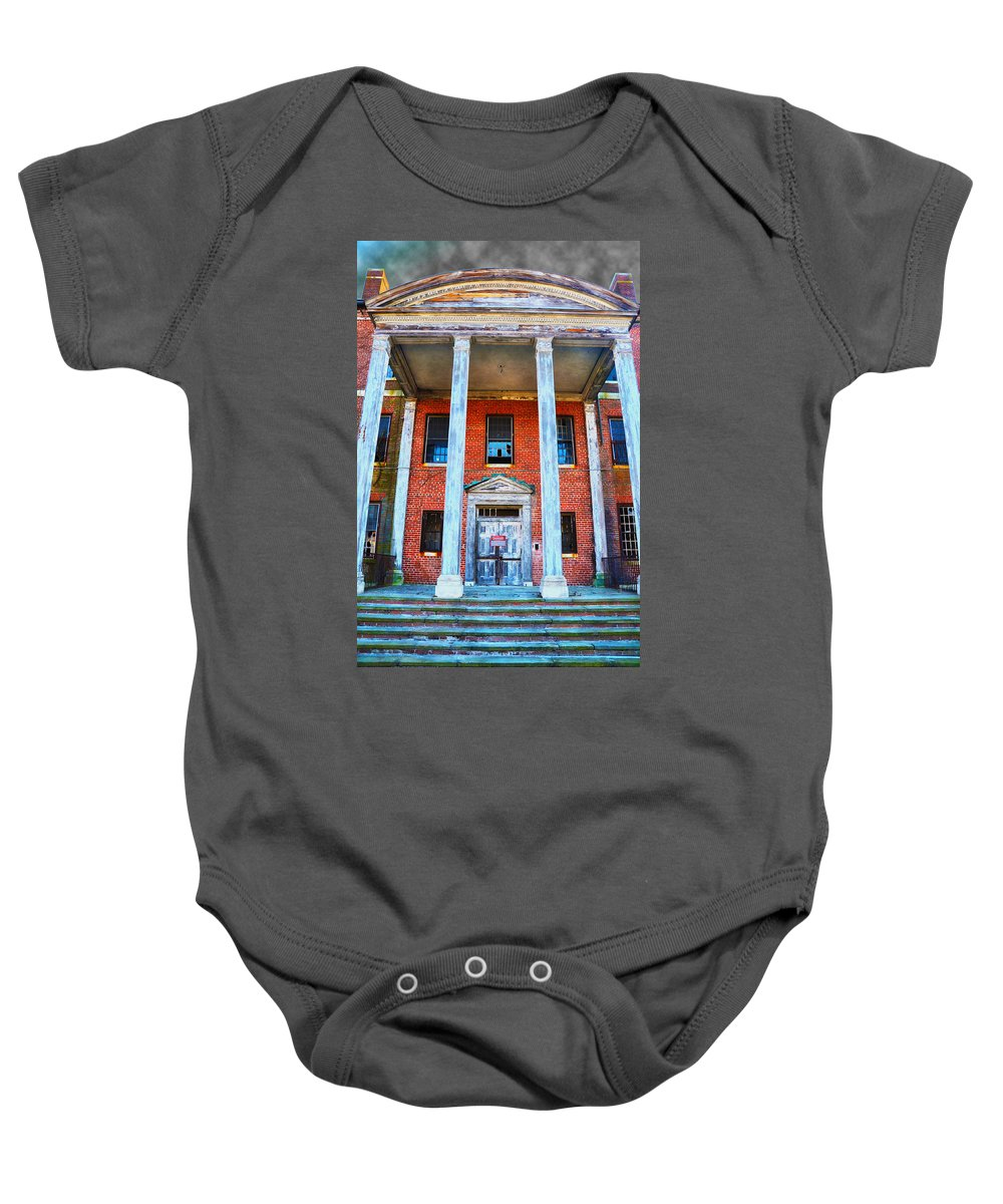 Norristown Baby Onesie featuring the photograph Condemned by Bill Cannon