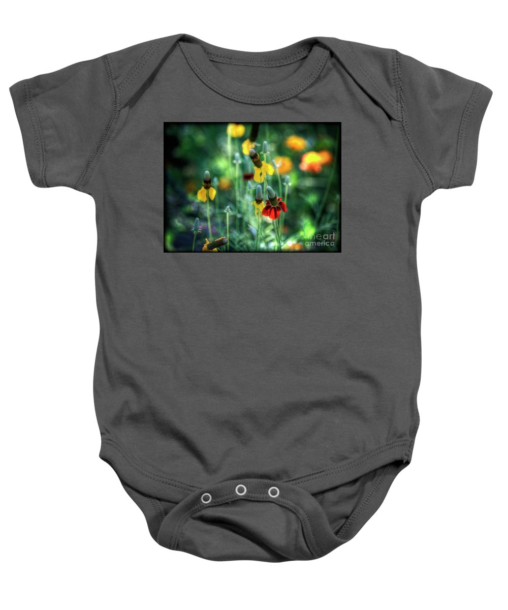 Coneflowers Baby Onesie featuring the photograph Coneflowers by Saija Lehtonen
