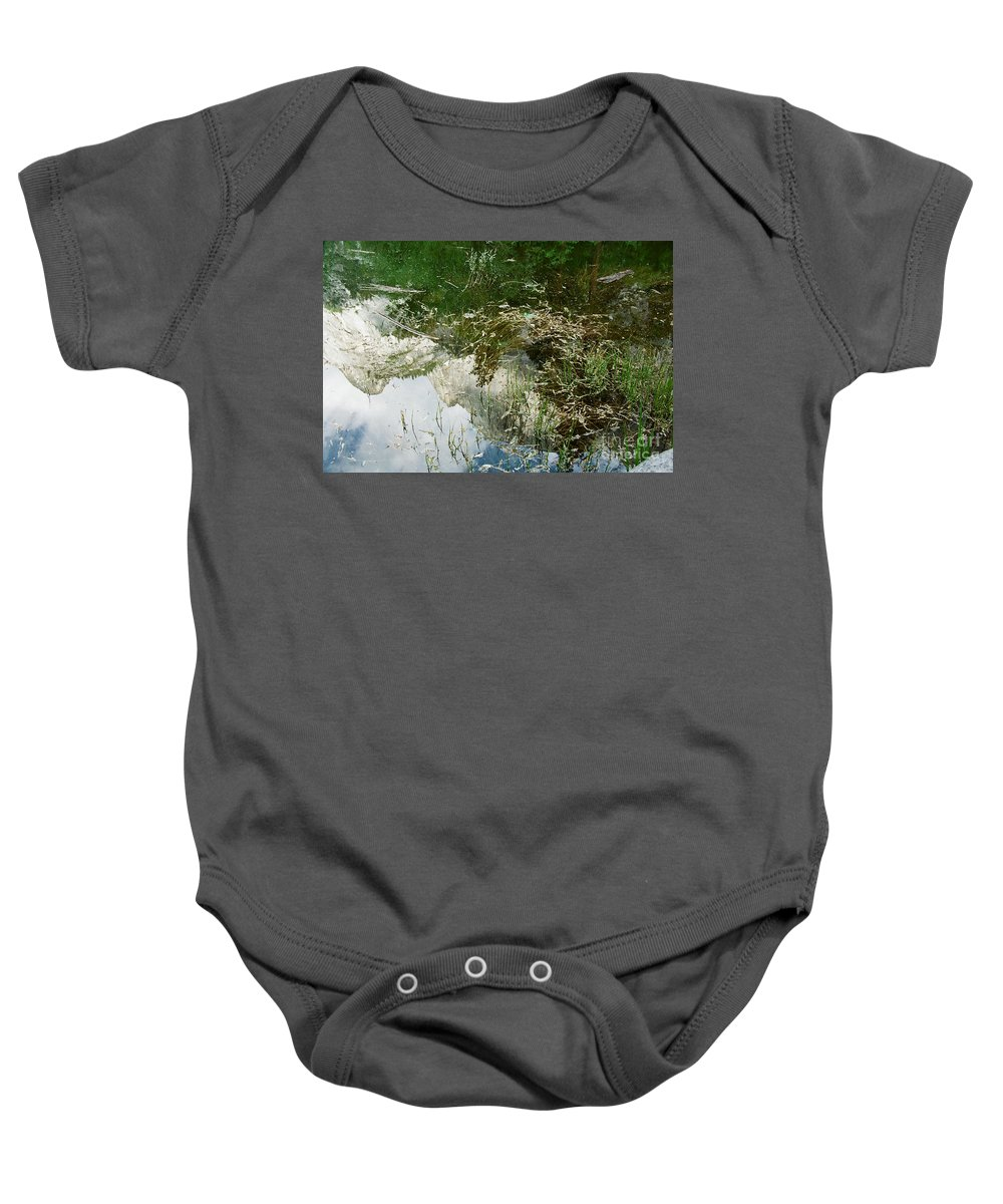 Mirror Lake Baby Onesie featuring the photograph Confusion by Kathy McClure