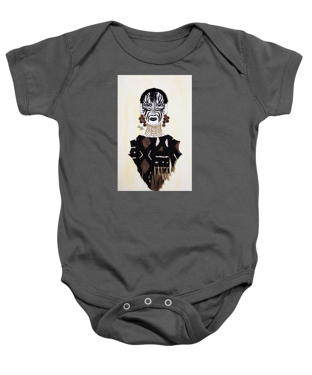 Congo Baby Onesie featuring the painting Congo Lady by Carla J Lawson