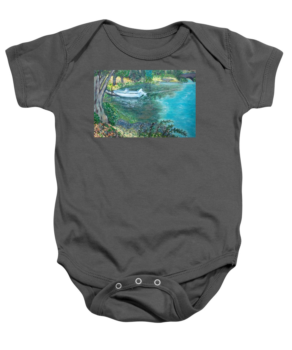 Connecticut Baby Onesie featuring the painting Connecticut River by Carolyn Donnell