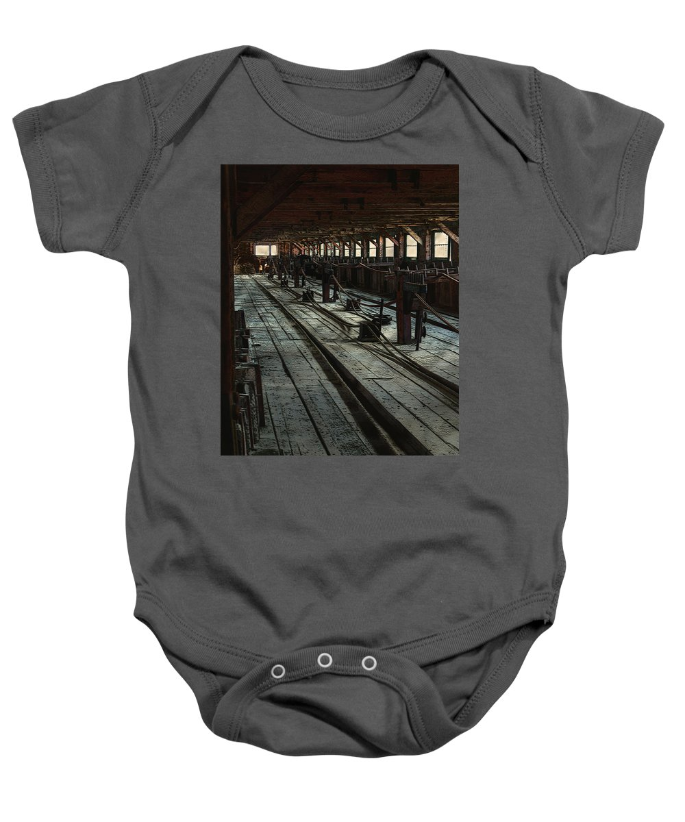 Historical Baby Onesie featuring the painting Consigned To Hell by RC deWinter
