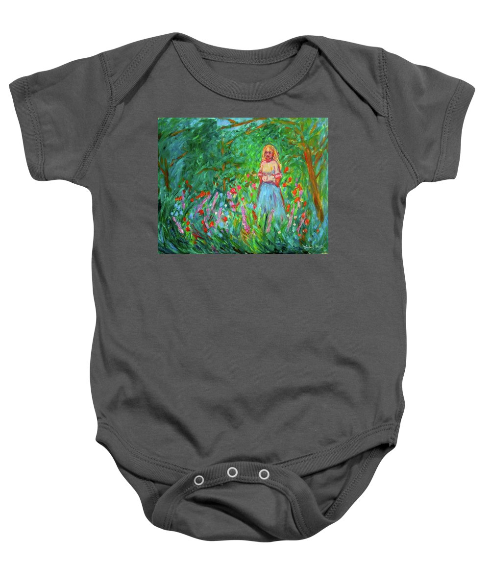 Landscape Baby Onesie featuring the painting Contemplation by Kendall Kessler