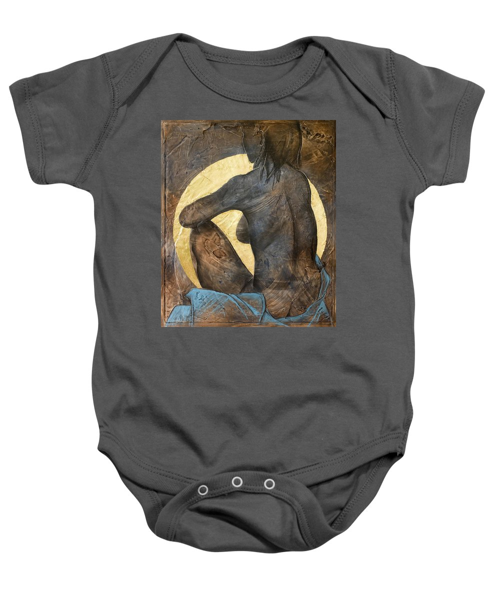 Nude Baby Onesie featuring the painting Contemplation by Richard Hoedl