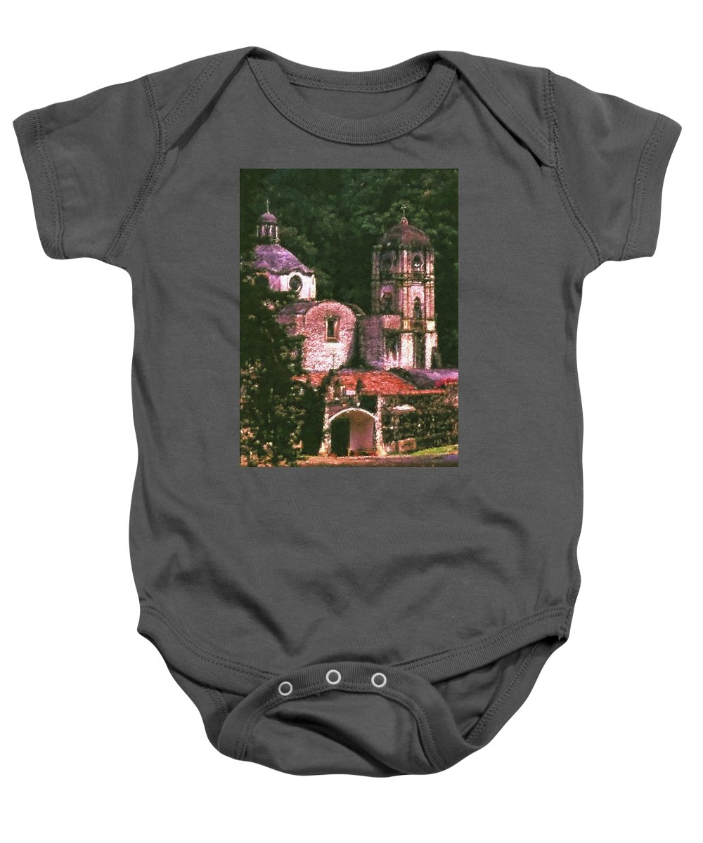 Convent Baby Onesie featuring the photograph Convent Cezzanne Style by Agustin Uzarraga