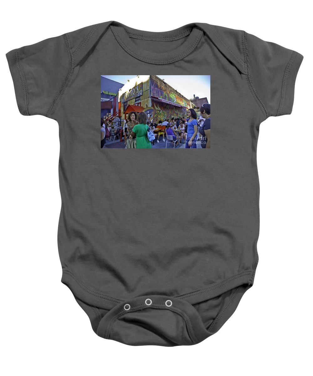 People Baby Onesie featuring the photograph Conversation by Madeline Ellis