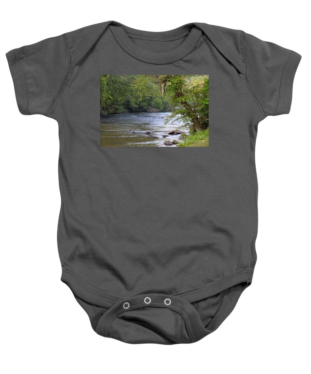 River Baby Onesie featuring the photograph Coosawattee River by Carol Bradley