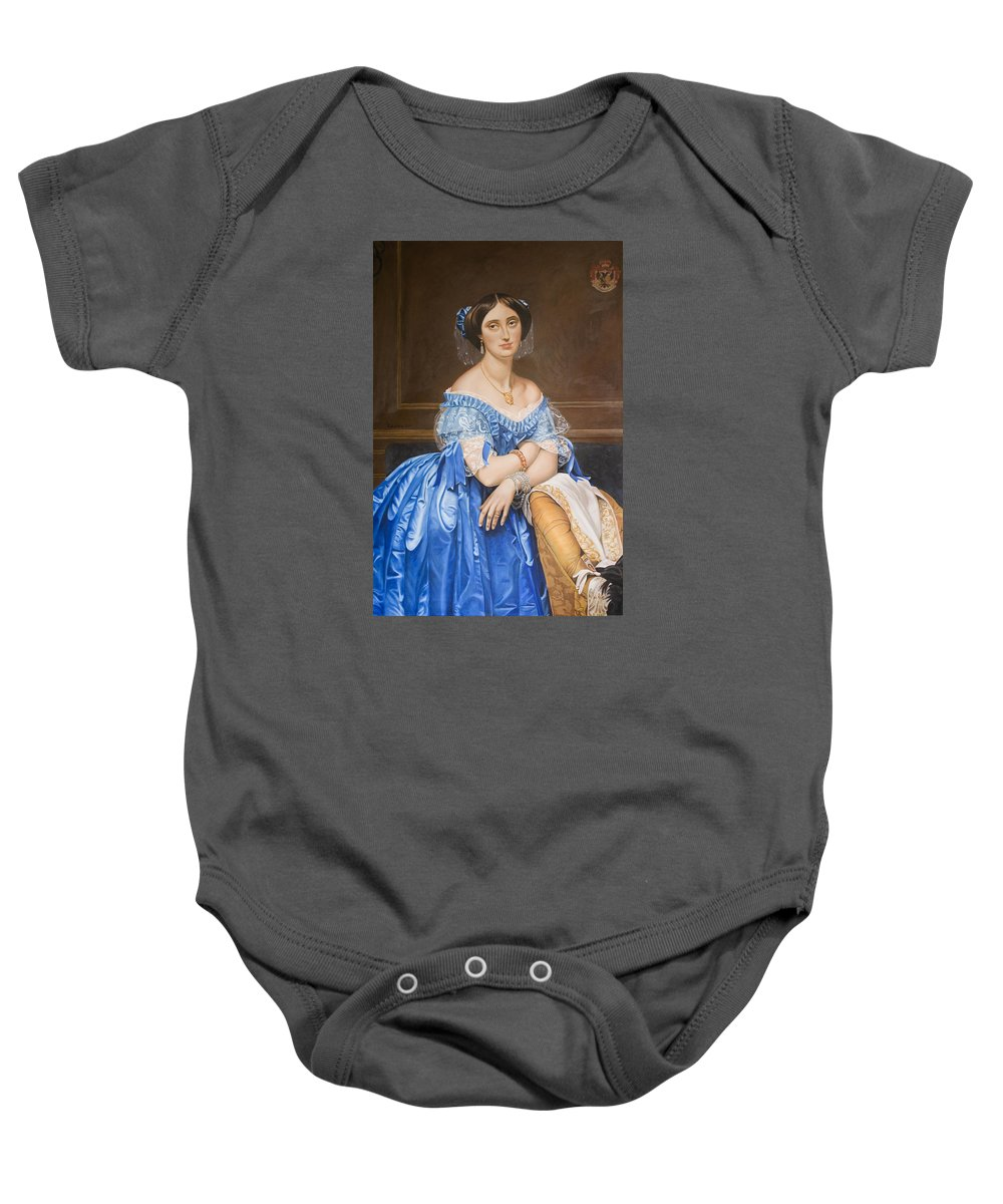 Ingres Baby Onesie featuring the painting Copy After Ingres by Rob De Vries
