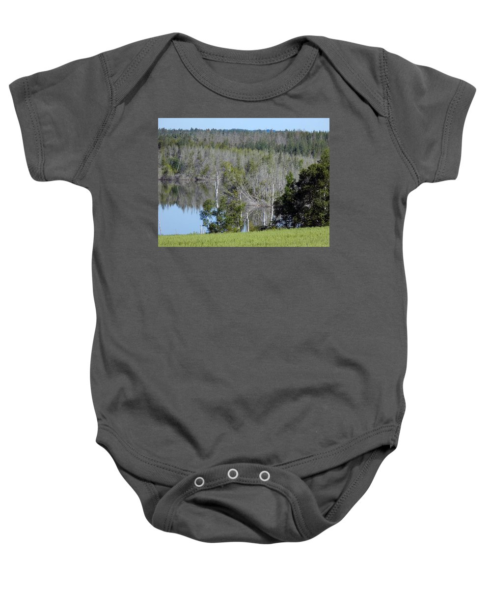 Landscape Baby Onesie featuring the photograph Corner Of Caribou Lake by William Tasker