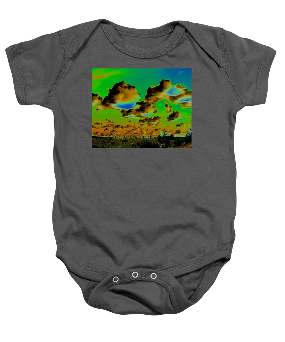 Photo Art Baby Onesie featuring the photograph Cosmic Cloud Skyline by Ben Upham III