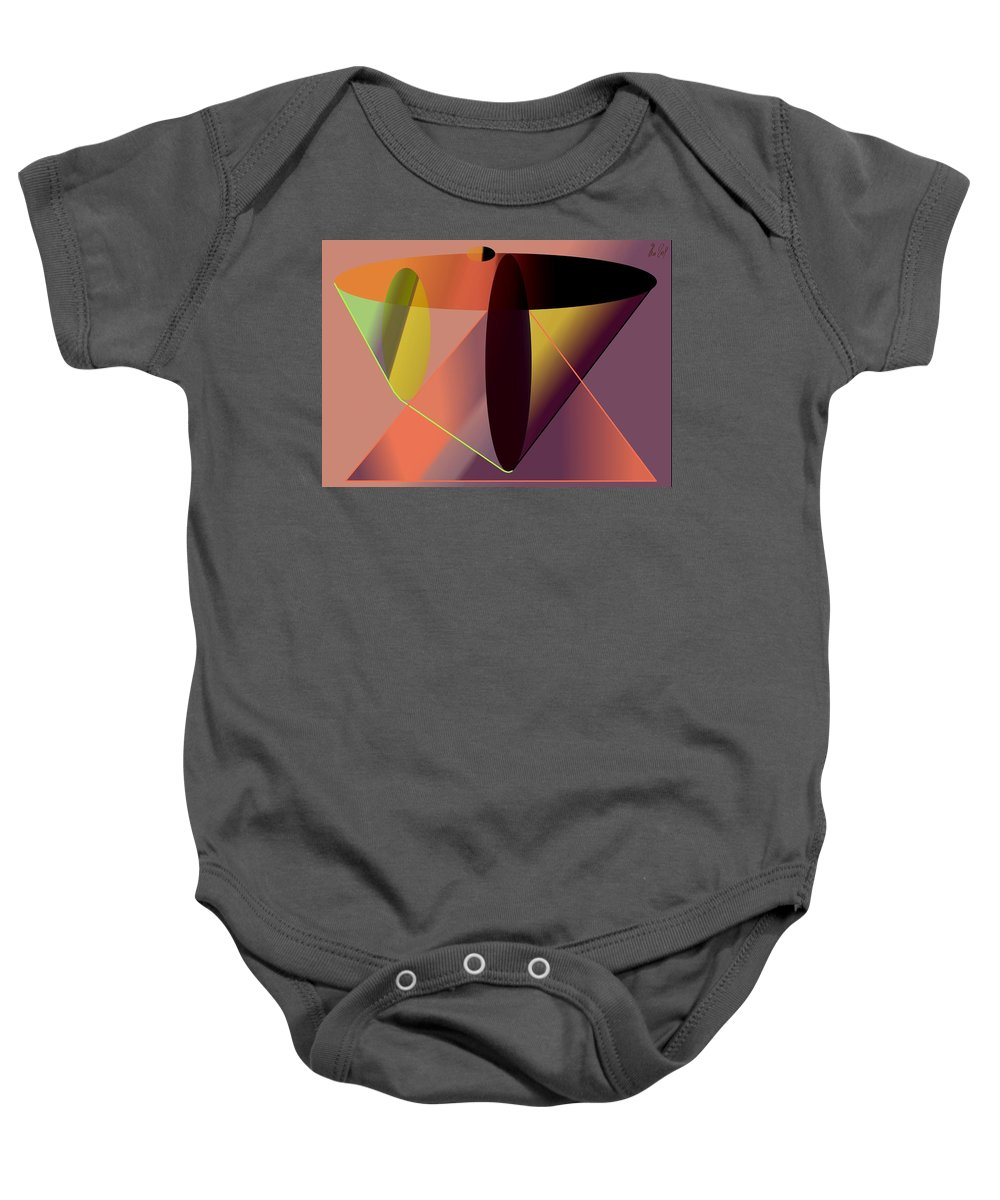 Cosmic Baby Onesie featuring the digital art Cosmic Lifecircuits by Helmut Rottler