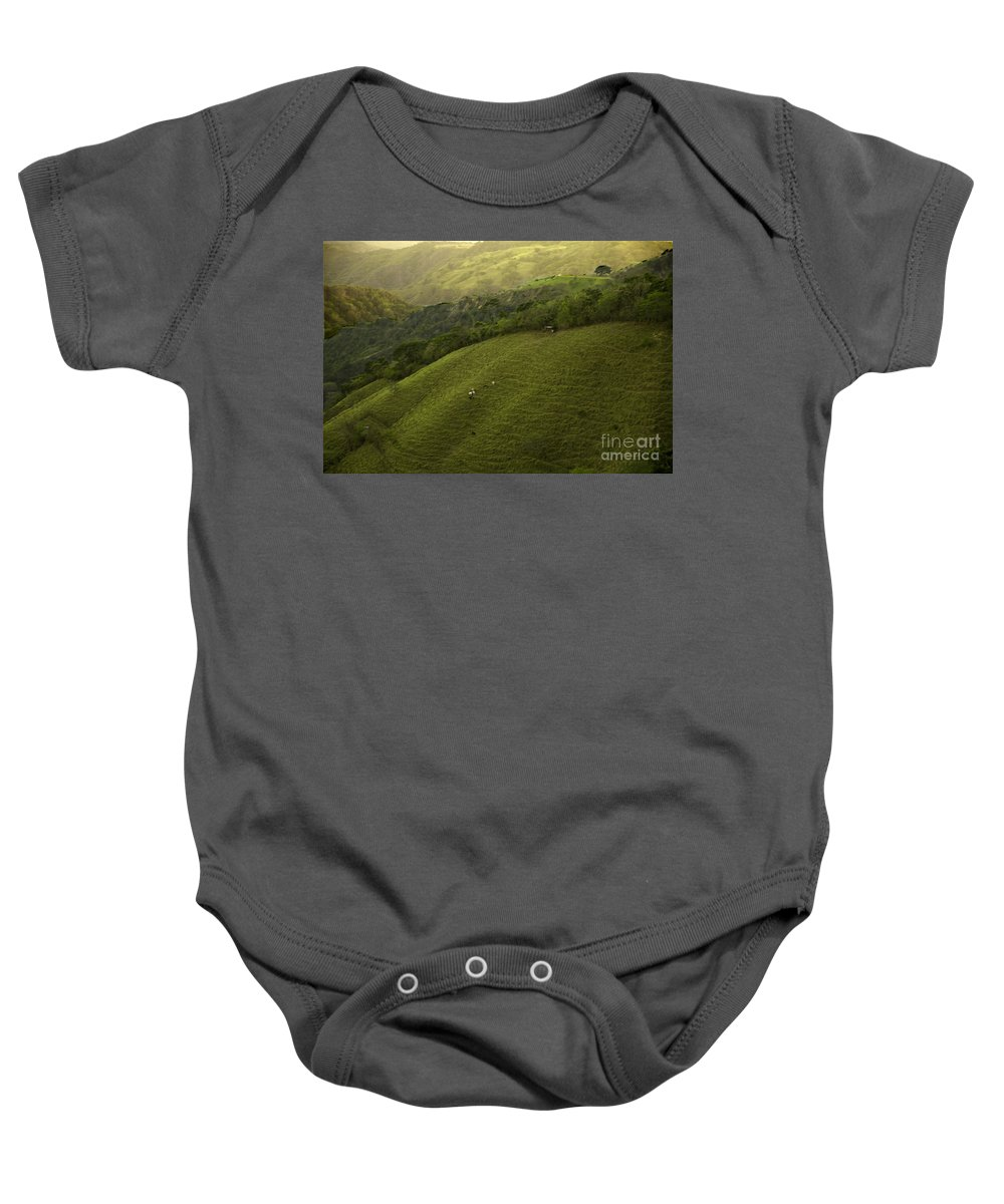 Pasture Baby Onesie featuring the photograph Costa Rica Pasture by Madeline Ellis