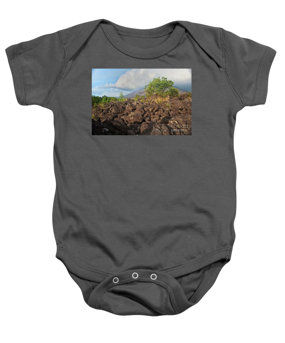 Volcano Baby Onesie featuring the photograph Costa Rica Volcanic Rock II by Madeline Ellis