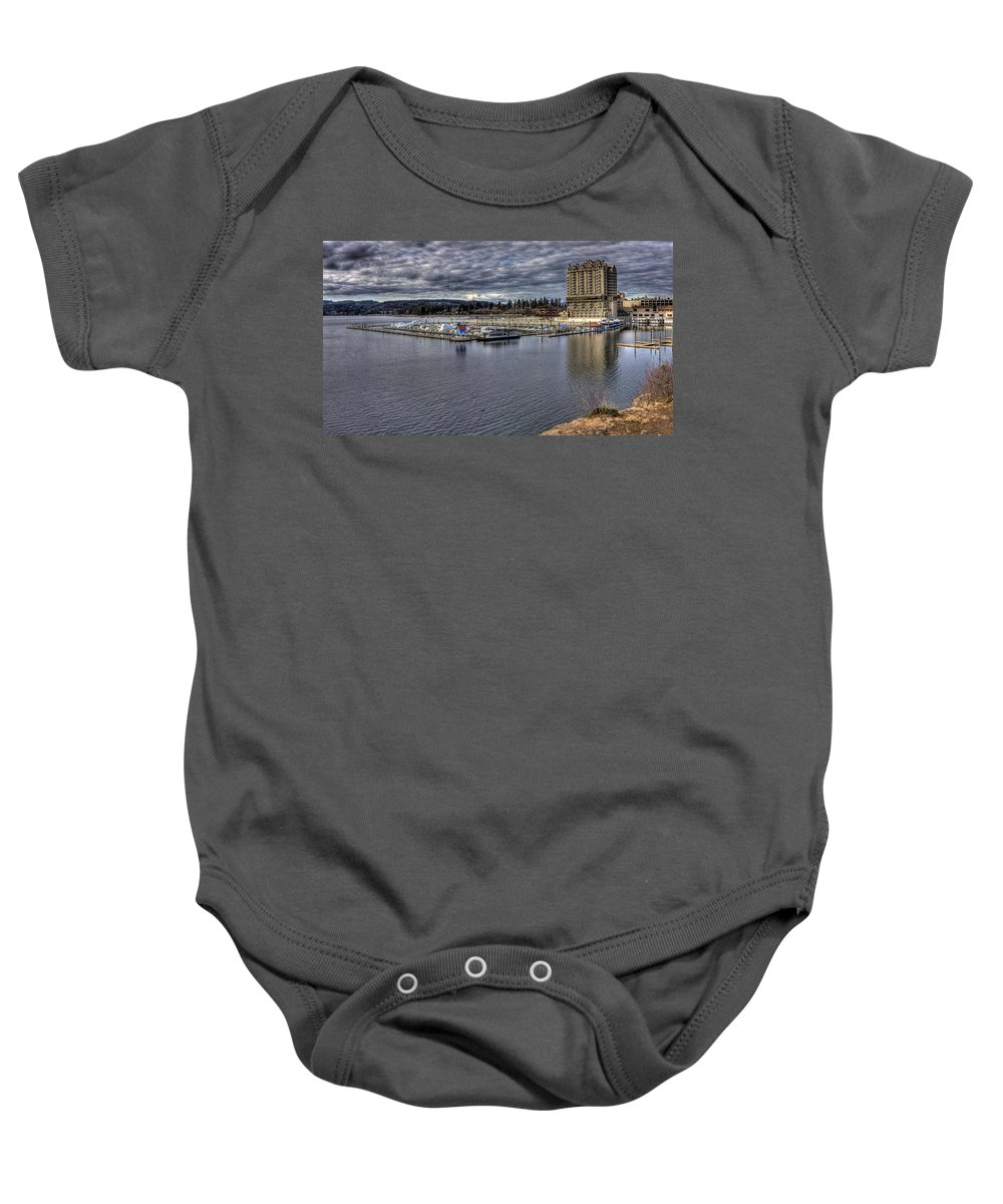 Landscape Baby Onesie featuring the photograph Couer D'alene Resort 3 by Lee Santa