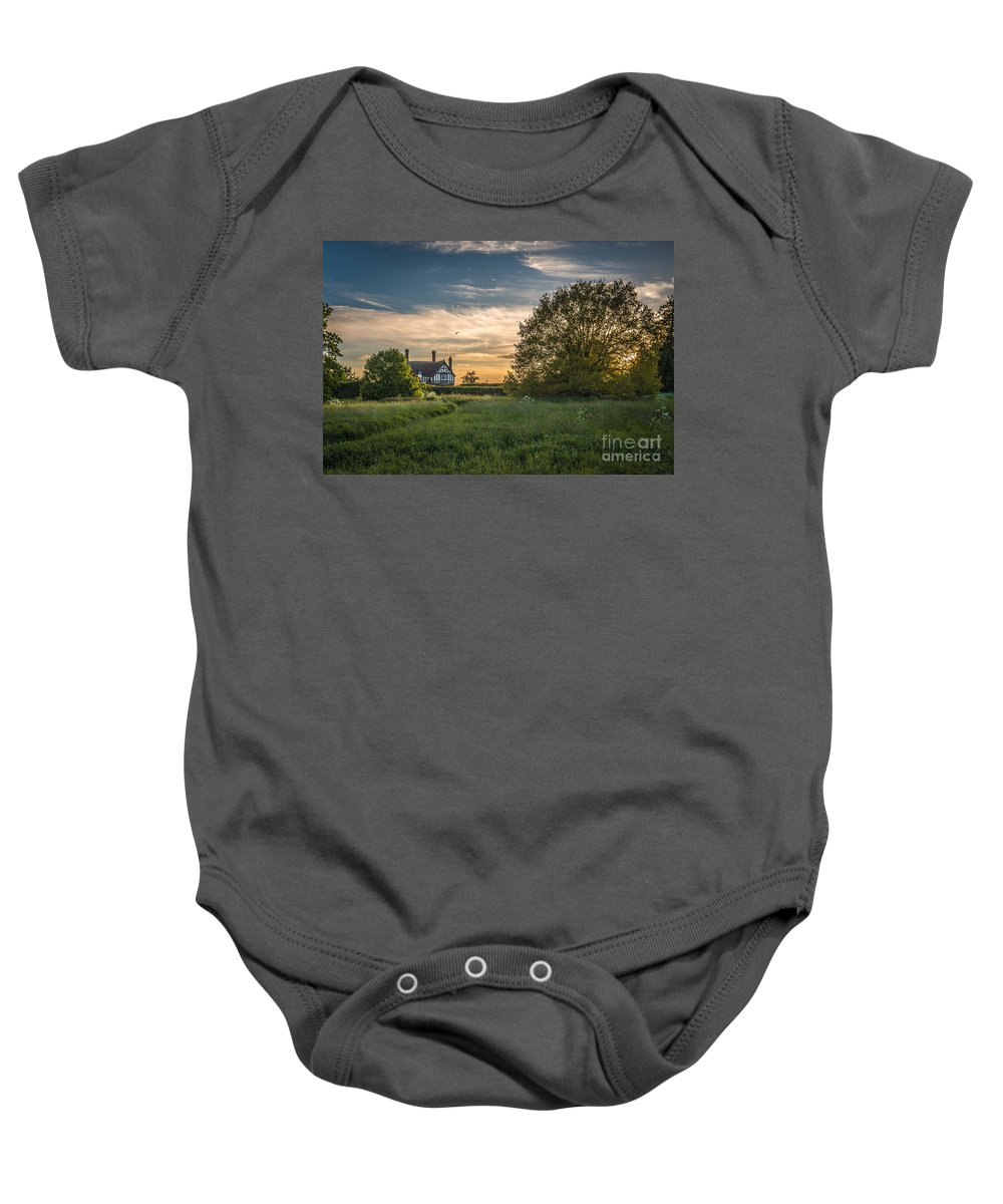 Shropshire Baby Onesie featuring the photograph Country House by Amanda Elwell