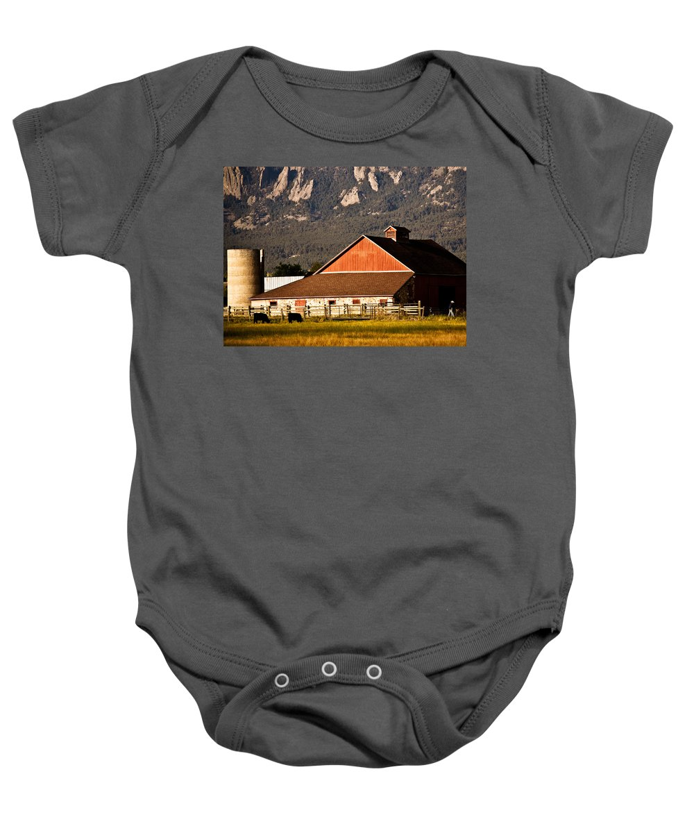 Americana Baby Onesie featuring the photograph Country Living Boulder County by Marilyn Hunt