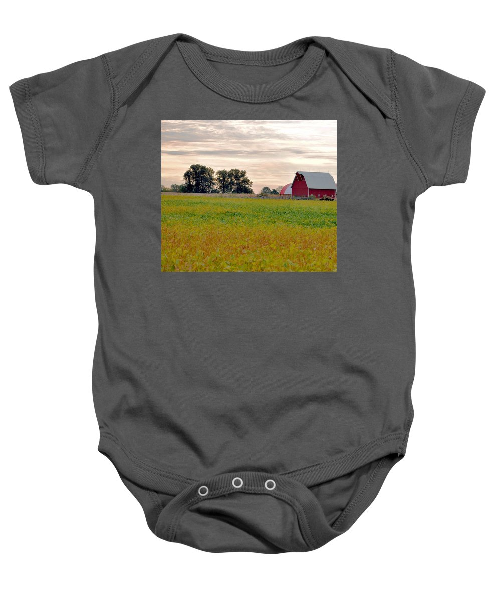 Barn Baby Onesie featuring the photograph Country Living by Brittany Horton