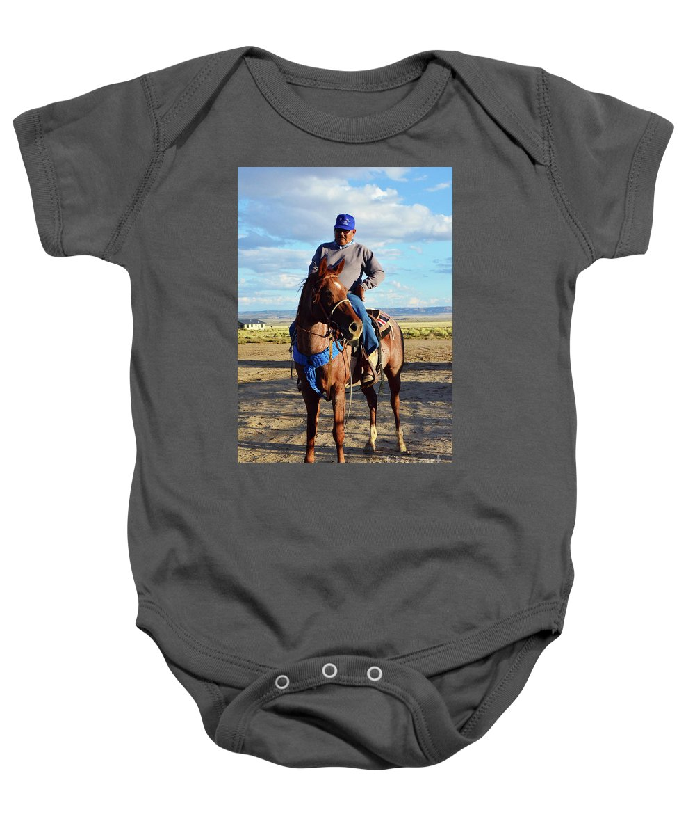 Cowboy Baby Onesie featuring the photograph Cowboy by Debby Pueschel