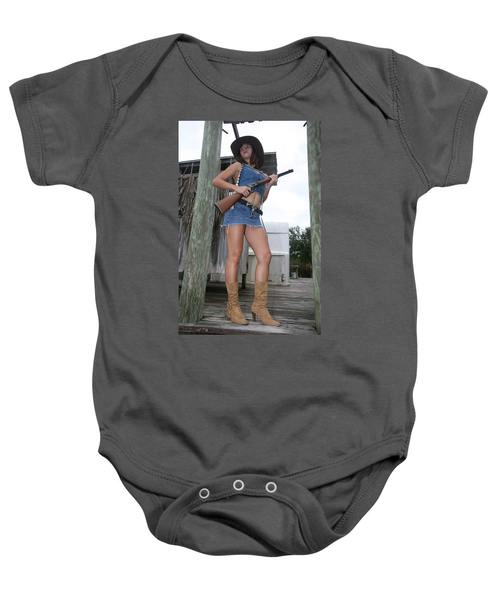 Cowgirl Boots Sexy Glamorous Sexy Female Baby Onesie featuring the photograph Cowgirl 020 by Lucky Cole