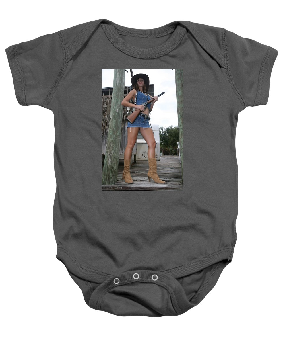 Cowgirl Boots Legs Sexy Glamorous Baby Onesie featuring the photograph Cowgirl 021 by Lucky Cole