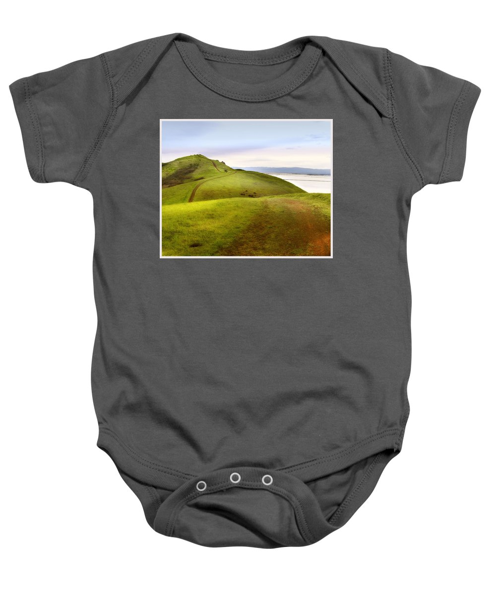 Landscape Baby Onesie featuring the photograph Coyote Hills by Karen W Meyer