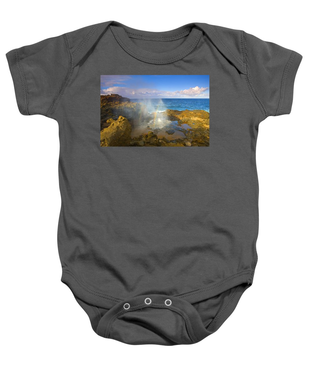 Blowhole Baby Onesie featuring the photograph Creating Miracles by Mike Dawson