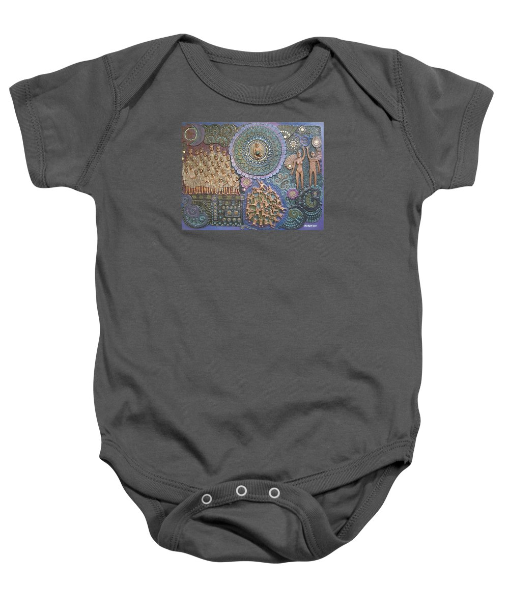 Handmade Papier Mache Artwork Baby Onesie featuring the mixed media Creed Of Equality by Otil Rotcod