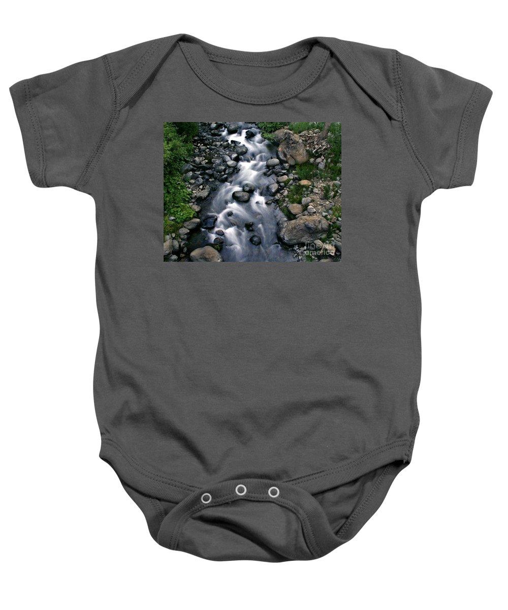Creek Baby Onesie featuring the photograph Creek Flow by Peter Piatt